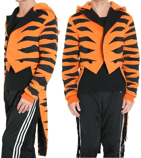 Top Adidas OBYO Jeremy Scott Tiger Tuxedo Jacket | Are You Bizzy? ZB16